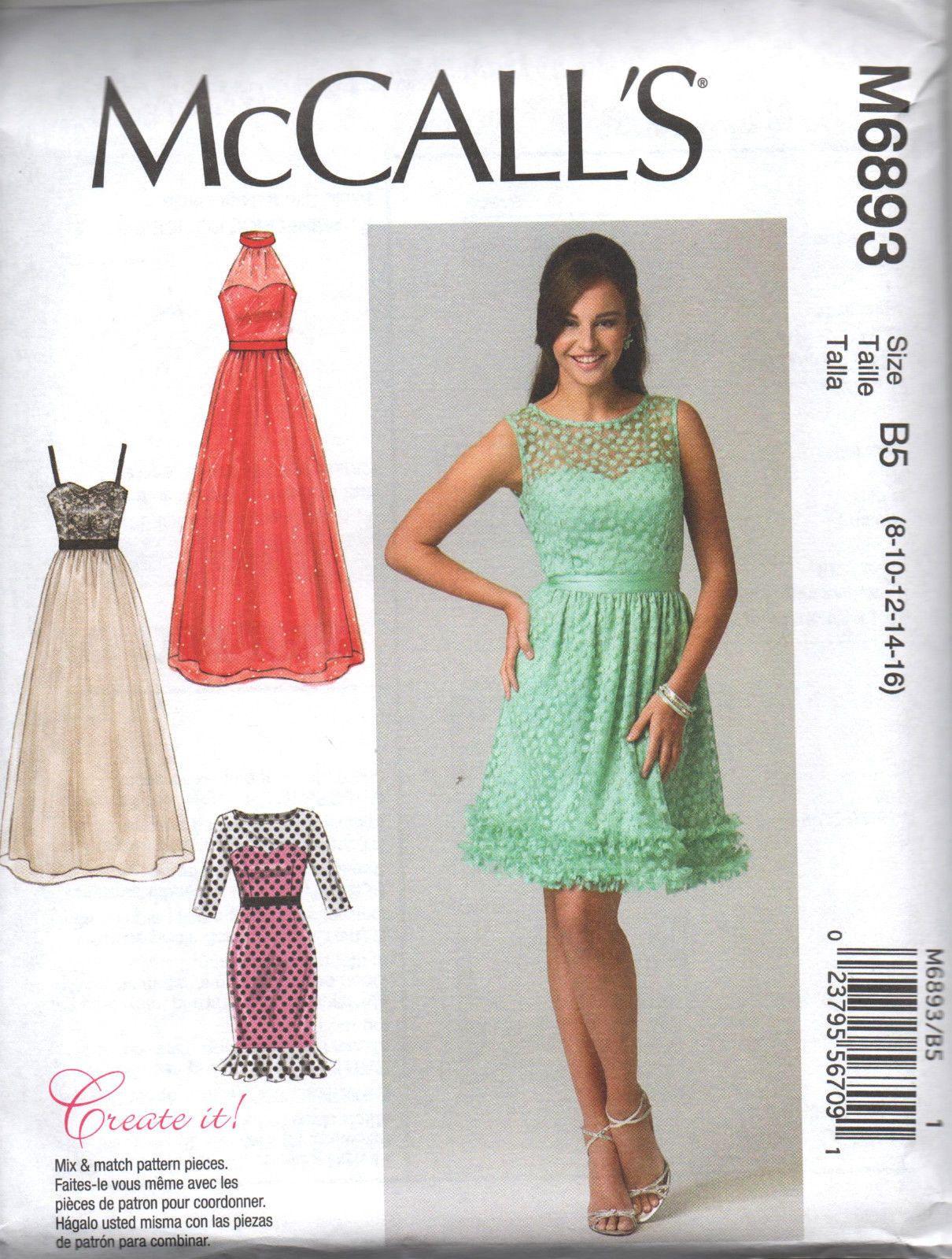 McCall\'s Schnittmuster für Damen Brautkleider oder Abendkleider ...