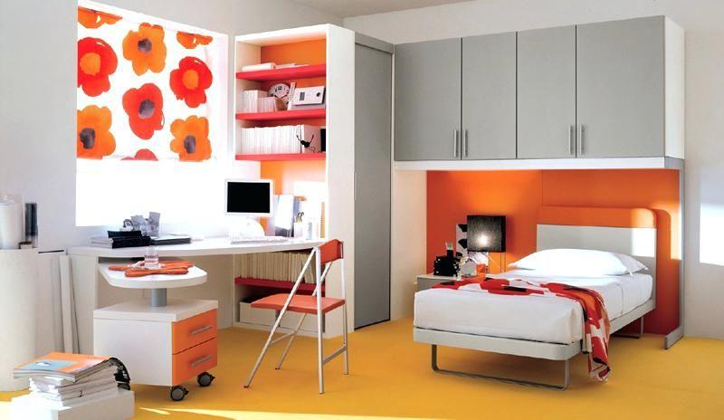 Orange und graue Schlafzimmer-Ideen Innenarchitektur 2018 Pinterest - schlafzimmer braun weiß