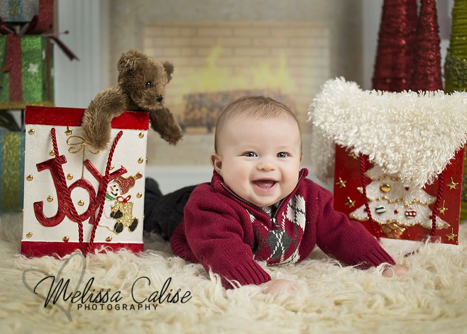 Melissa calise photography holiday mini session photo shoot posing ideas baby boy