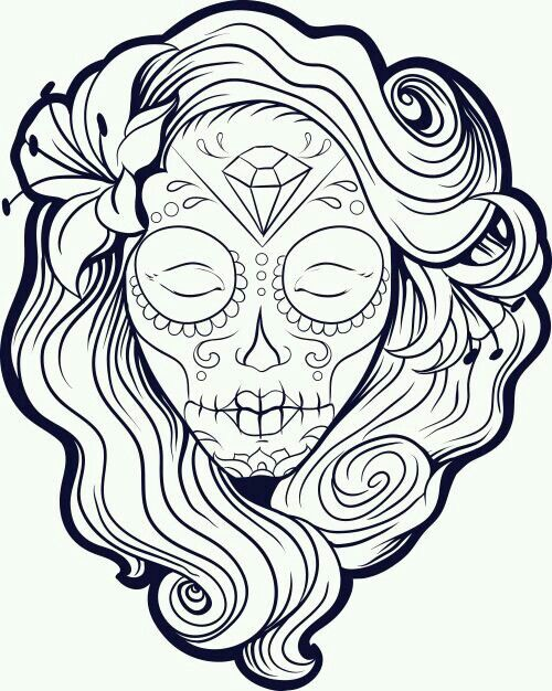 pin by victoria hedrick on drawing skull coloring pages  pin by victoria hedrick on drawing skull coloring pages coloring pages adult coloring pages