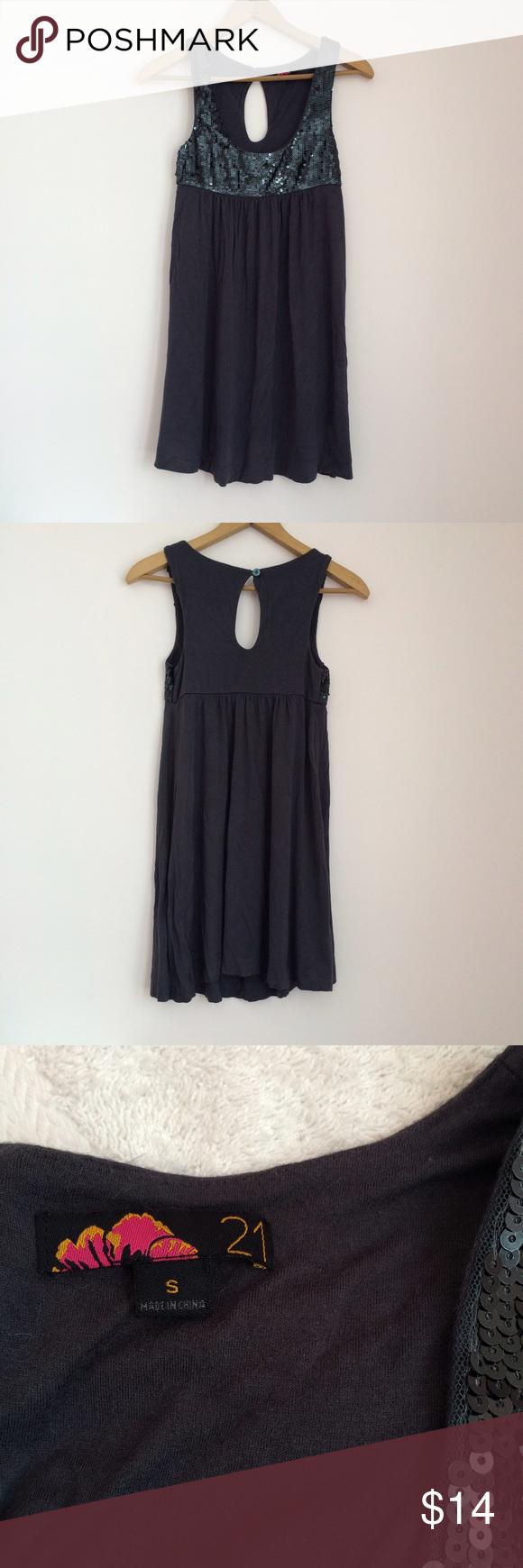 Sequin Babydoll Dress