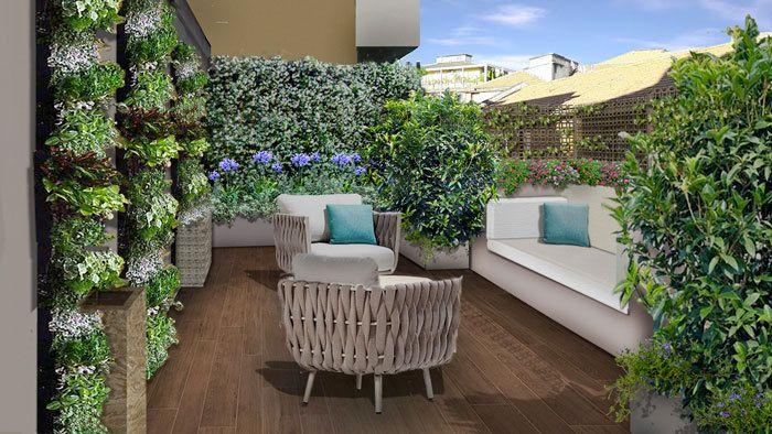 Il progetto del terrazzo - alcuni terrazzi realizzati   PROGETTI ...