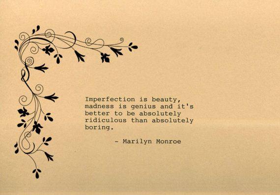 Marilyn Monroe Quote Made on Typewriter by FlightOfFancyPrints ...