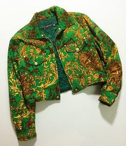 Vintage Versace Jeans Couture Woman Jacket Baroque Size L Very Rare Top Quality Fashion Women Wear Fashion Trends