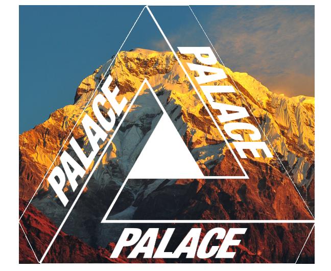 Palace Customized Logo Stiker Seni