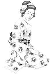 Resultado de imagen de dibujos GEISHAS para colorear | patchwork