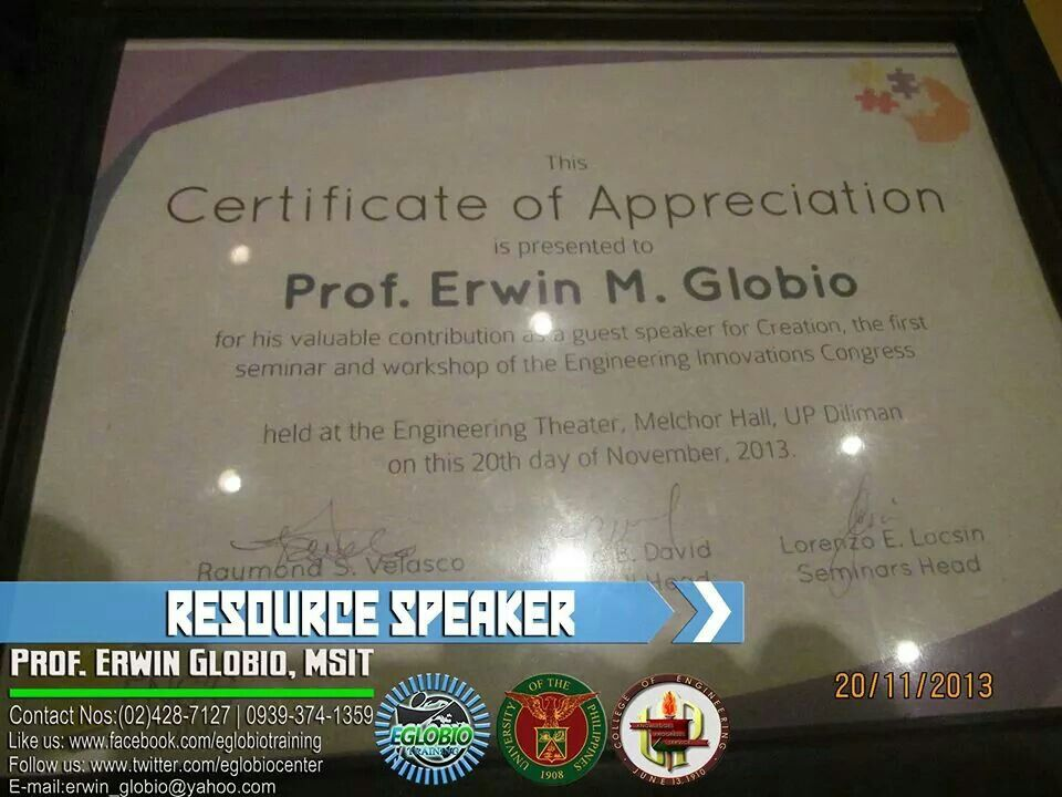 Speaking Engagement at UP Diliman College of Engineering