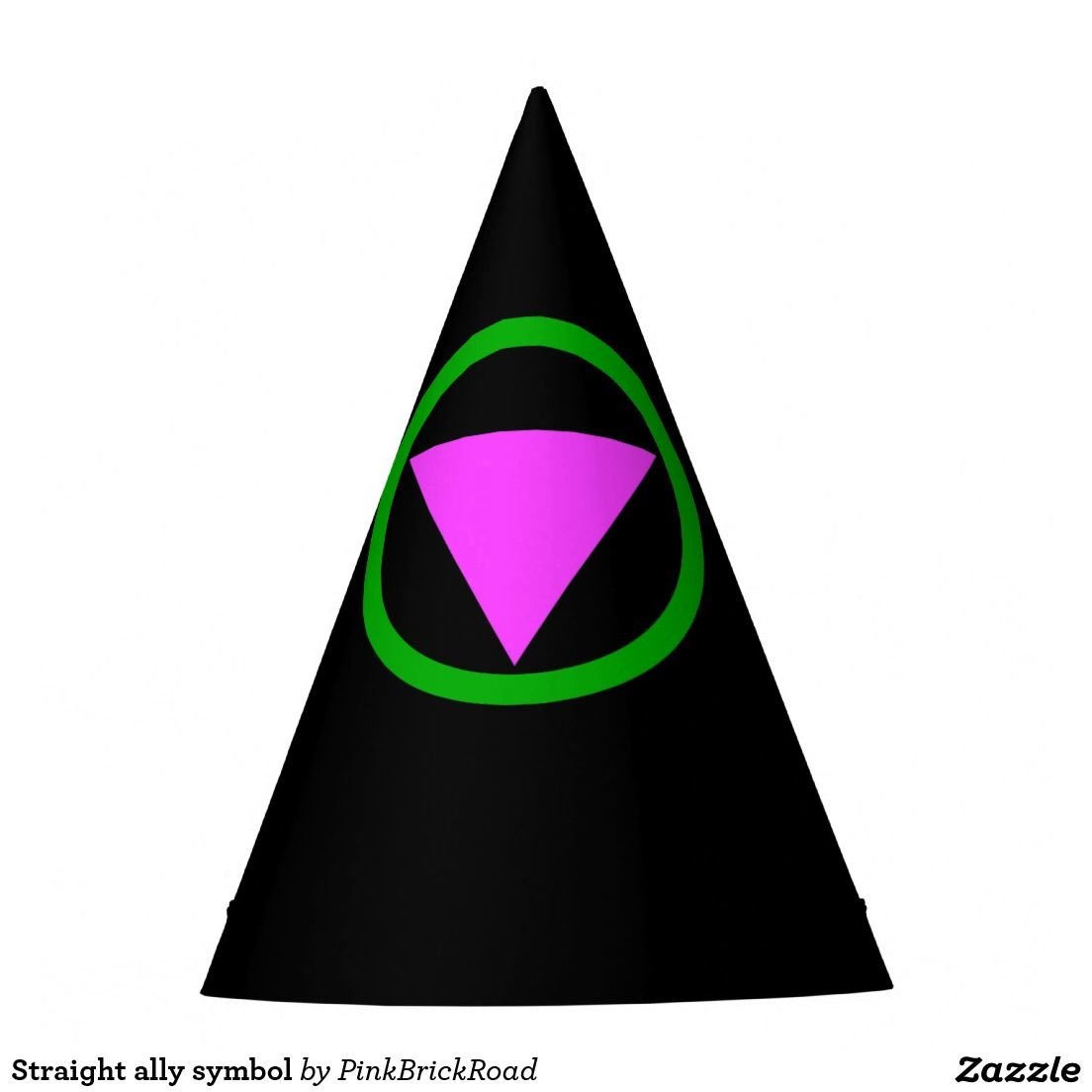 Straight Ally Symbol Party Hat Lgbt Pride Pinterest Symbols