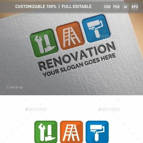 Bakery Corporate Identity Logo Template: Renovation Logo Template