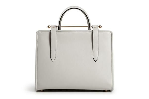 The Strathberry Midi Tote - Pearl Grey