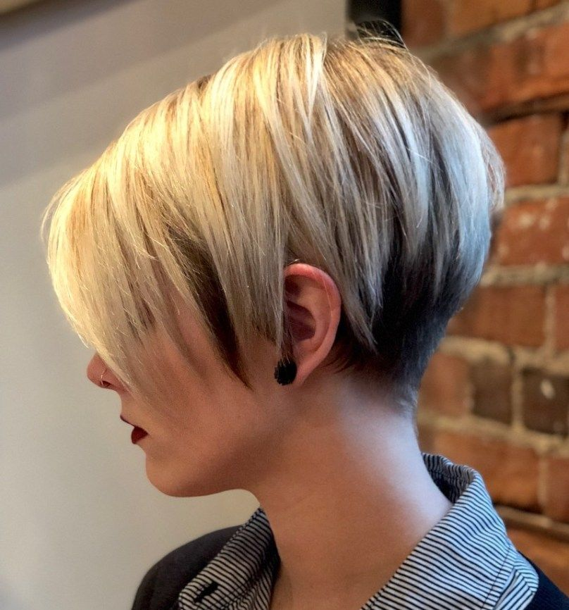 Two-Tone Undercut Pixie | Short hair with layers, Undercut hairstyles, Thick hair styles