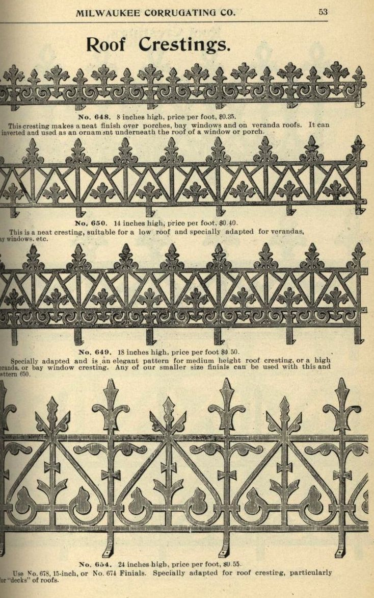 Illustrated Catalogue Of The Milwaukee Corrugating Co Catalog B Milwaukee Corrugating Company Free Download Borrow And Streaming Internet Archive Victorian Architecture Historical Architecture Architecture Details