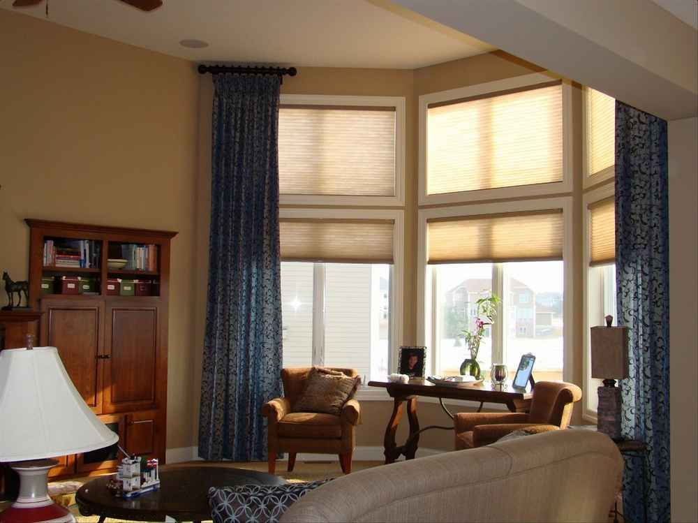 This  Window Treatments Roller Up Light White Creamy Shades Over Brilliant Blue Curtain Designs Living Room Design Ideas