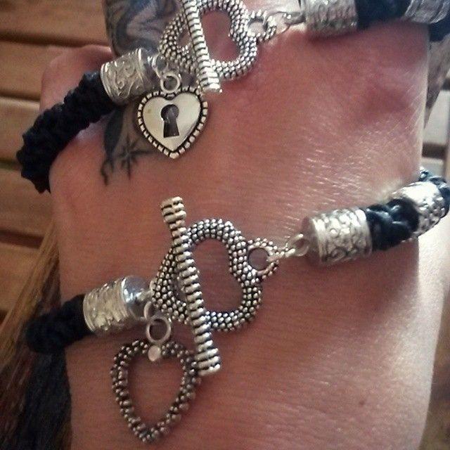 .... e ancora cuori ..... #bijoux #bracciale #handmade #heart #fattoconamore