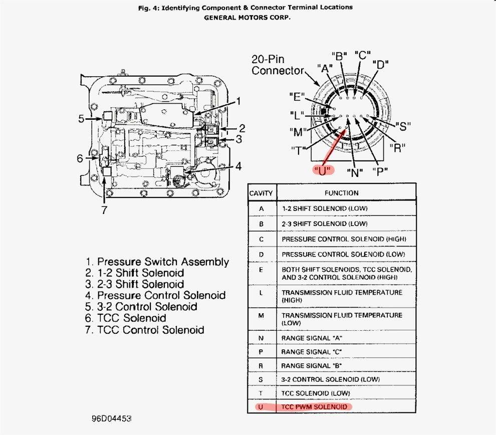 Pictures 4l80e Wiring Diagram 4l60E To 4L80E Swap In A 96