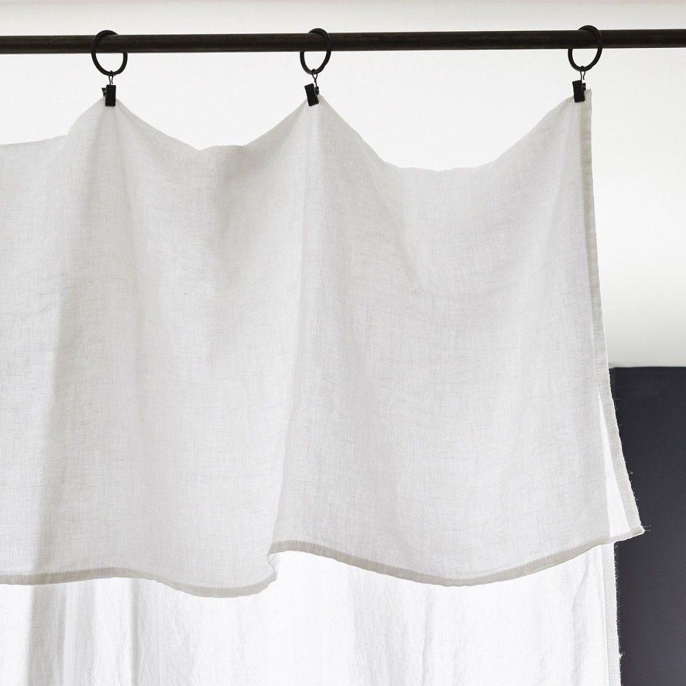 drap plat blanc optique 1 place drap plat 100 lin lav merci rideaux pinterest drap. Black Bedroom Furniture Sets. Home Design Ideas