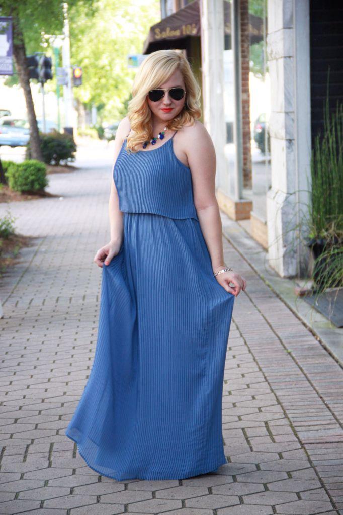 Summer style, LC Lauren Conrad maxi dress, women's fashion
