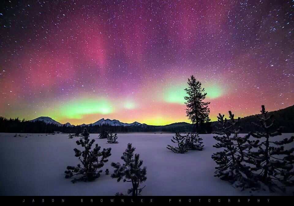 Aurora over Central Oregon by Jason Brownlee. Bend Oregon