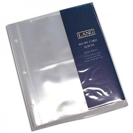 The Plastic Binder Sleeves For Recipes Are Packed In Sets Of 12