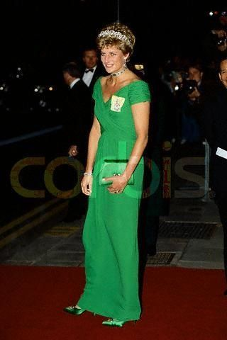 wearing emerald green clothes for princess diana | Princess Diana and Catherine Walker Photograph
