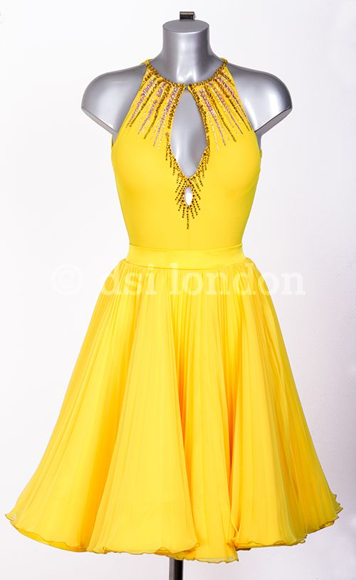 Iveta Lukosiute sunrise Latin dress
