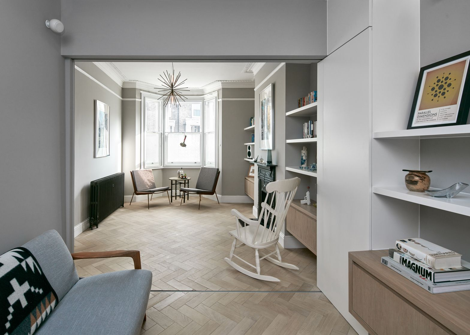 Platform 5 Has Added A Cranked Extension To A Victorian House In Hackney Featuring Surfaces And Fitted Furnitur Best Living Room Design Herringbone Floor House