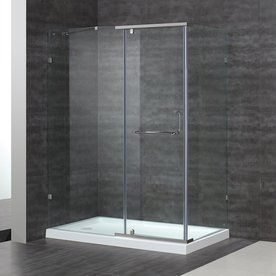 Aston 38.37-In To 60-In Polished Chrome Pivot Shower Door Sen975-Tr-60