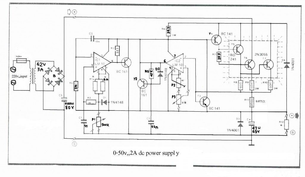 0 50v 2a Bench Power Supply Goruntuler Ile Elektronik Devre