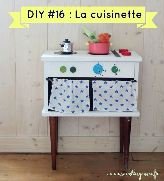 faire une kitchenette partir d 39 une petite table de chevet diy jouets enfants pinterest. Black Bedroom Furniture Sets. Home Design Ideas