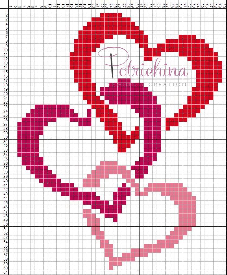 Leggi di più schemi punto croce cuori. Cuori Schema Punto Croce Cross Stitch Kreuzstich Punto De Cruz Cross Stitch Heart Cross Stitch Cross Stitch Love