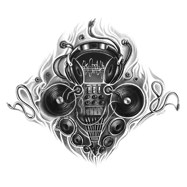 dj inspired tattoo designs dibujos pinterest tattoo designs tattoo and custom tattoo. Black Bedroom Furniture Sets. Home Design Ideas