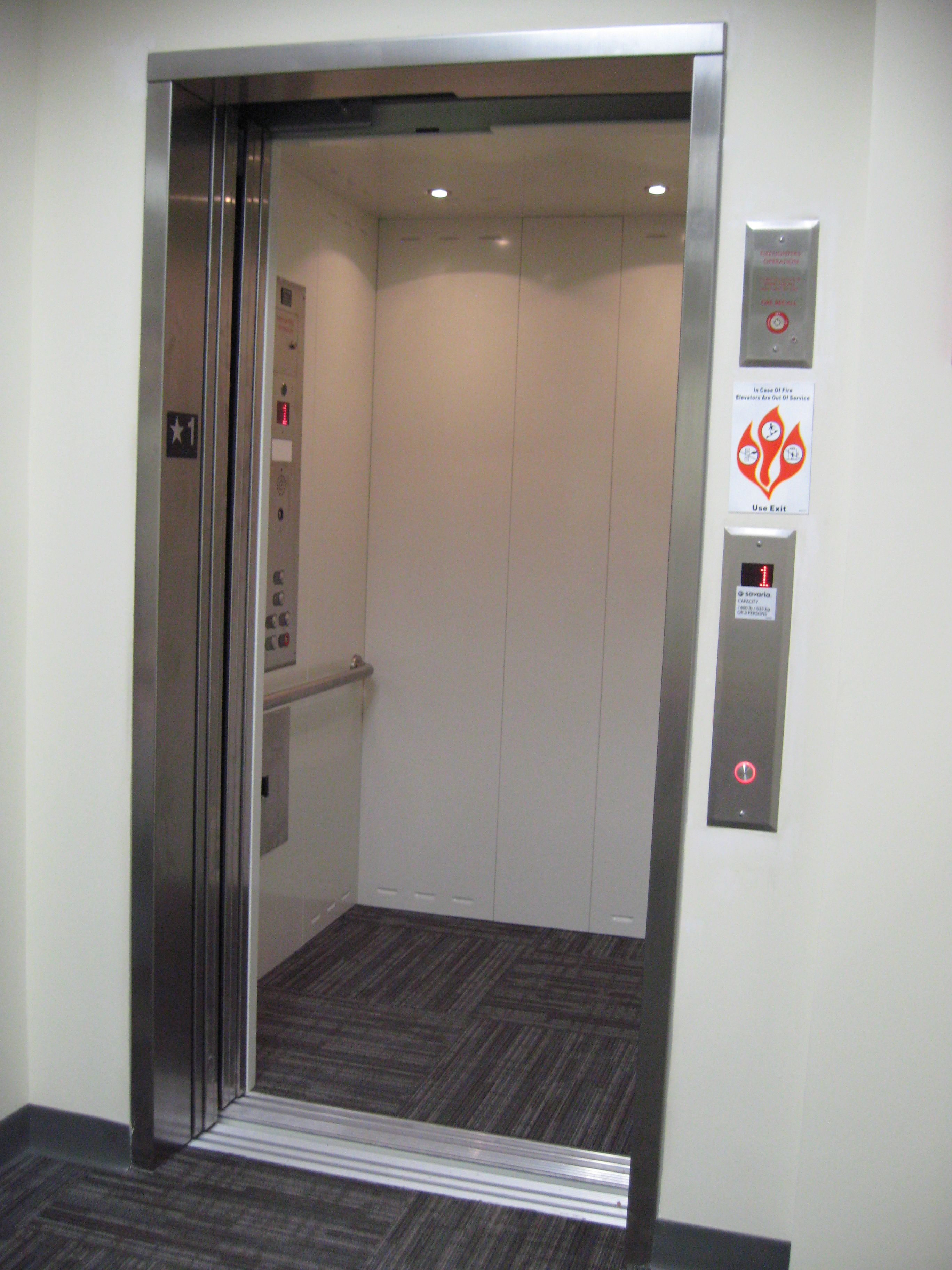 Stainless Steel Elevators : Lula elevator can t go wrong with white and stainless