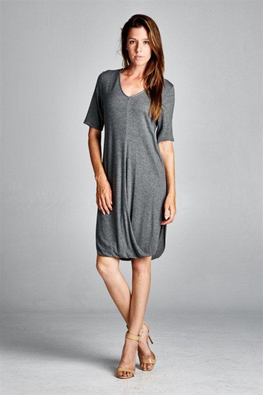 Imogen Dress in Soft Charcoal