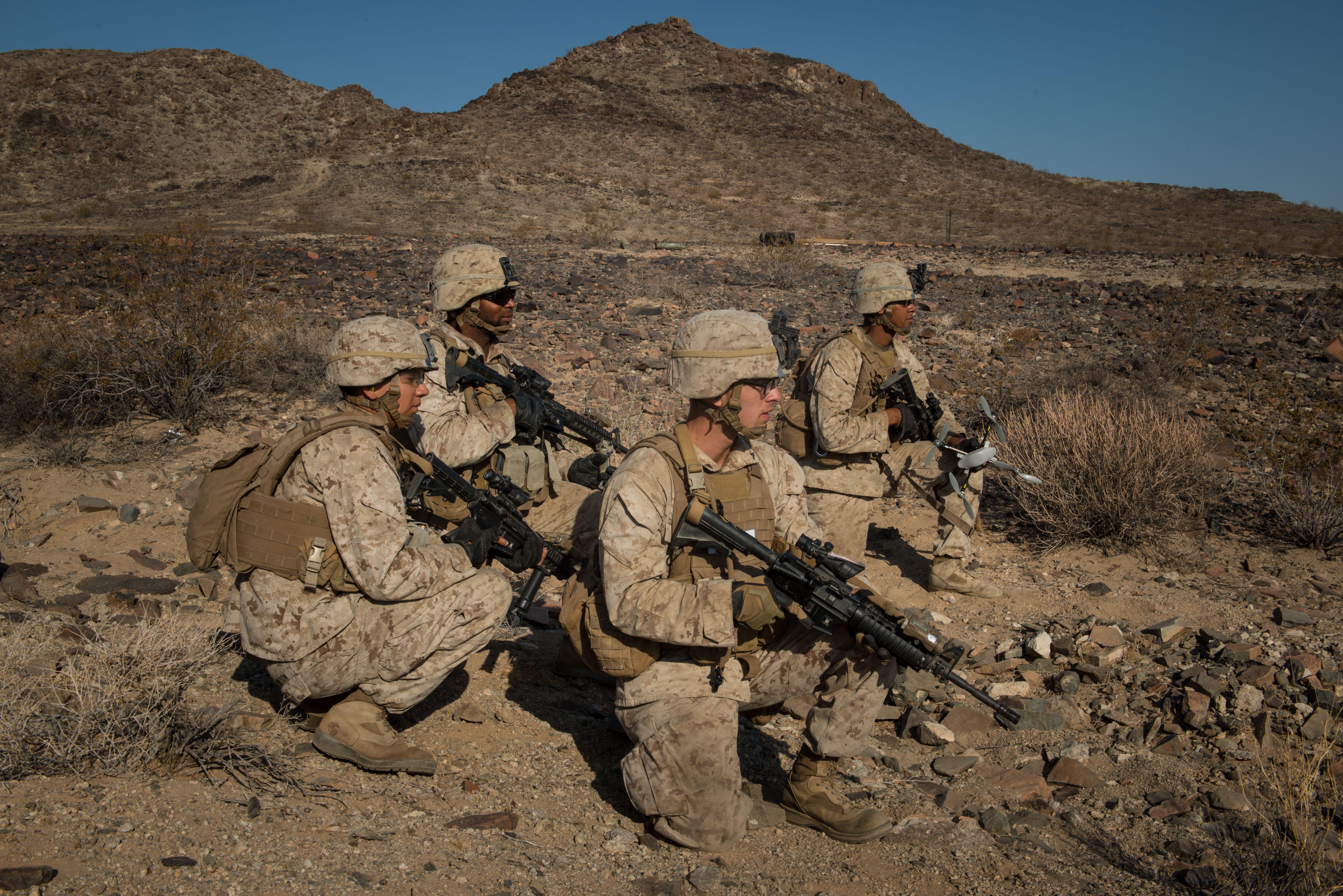 Marines With Kilo Company 3rd Battalion 5th Marine Regiment