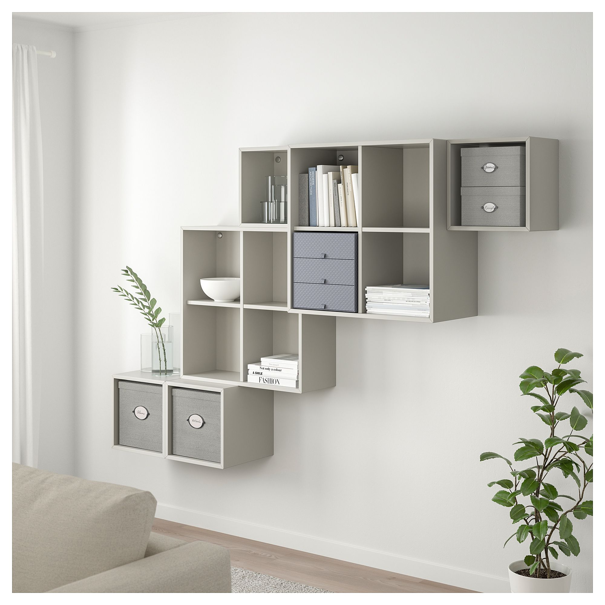 KVARNVIK Storage box with lid - gray. Find it here - IKEA in 9