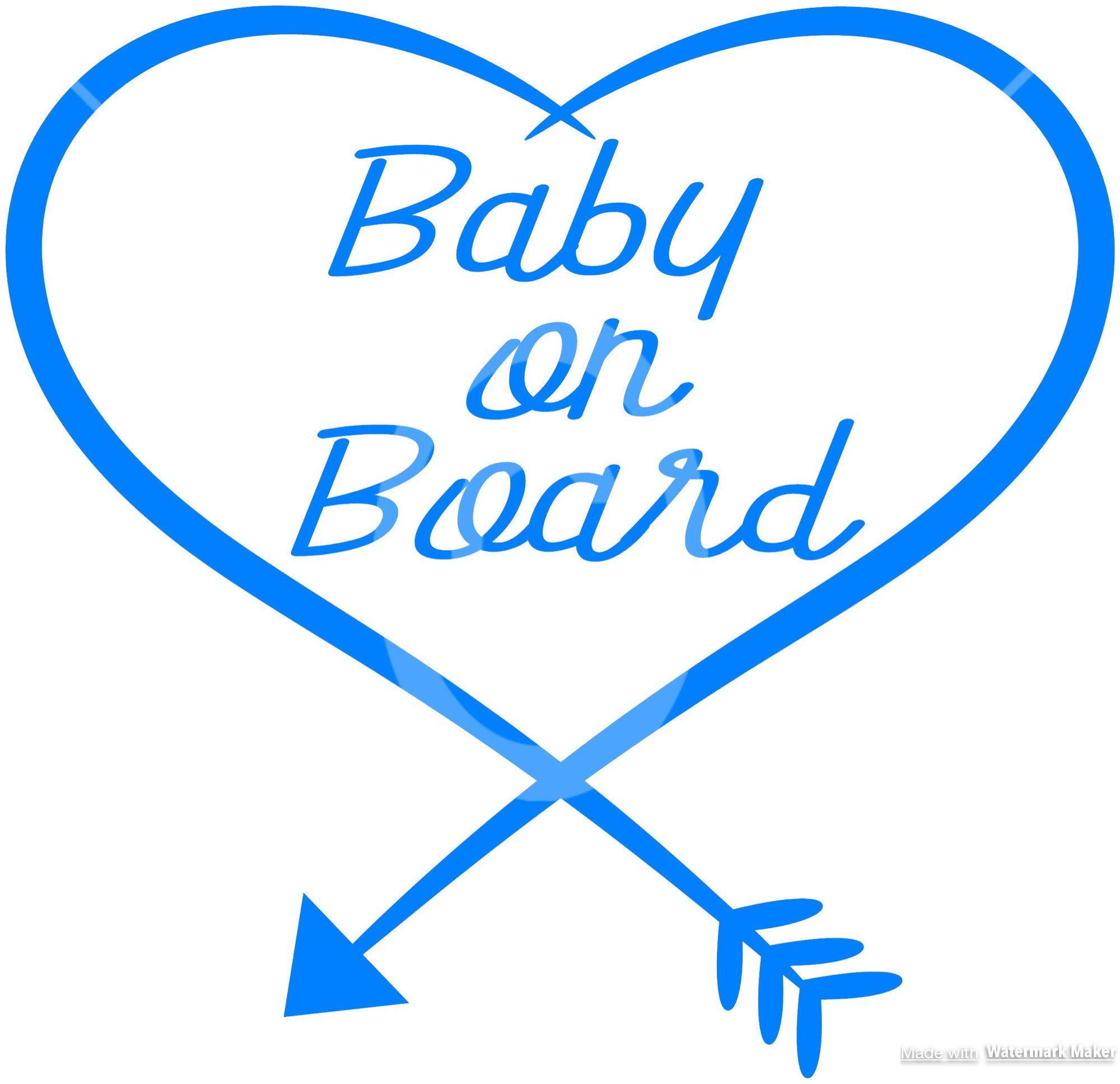 Baby on board decal decals baby car decals