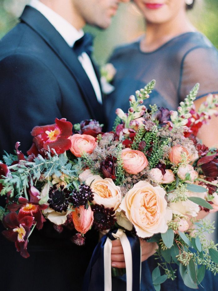 Jewel Tone Wedding in Wine Country | Autumn flowers, Flower bouquets ...