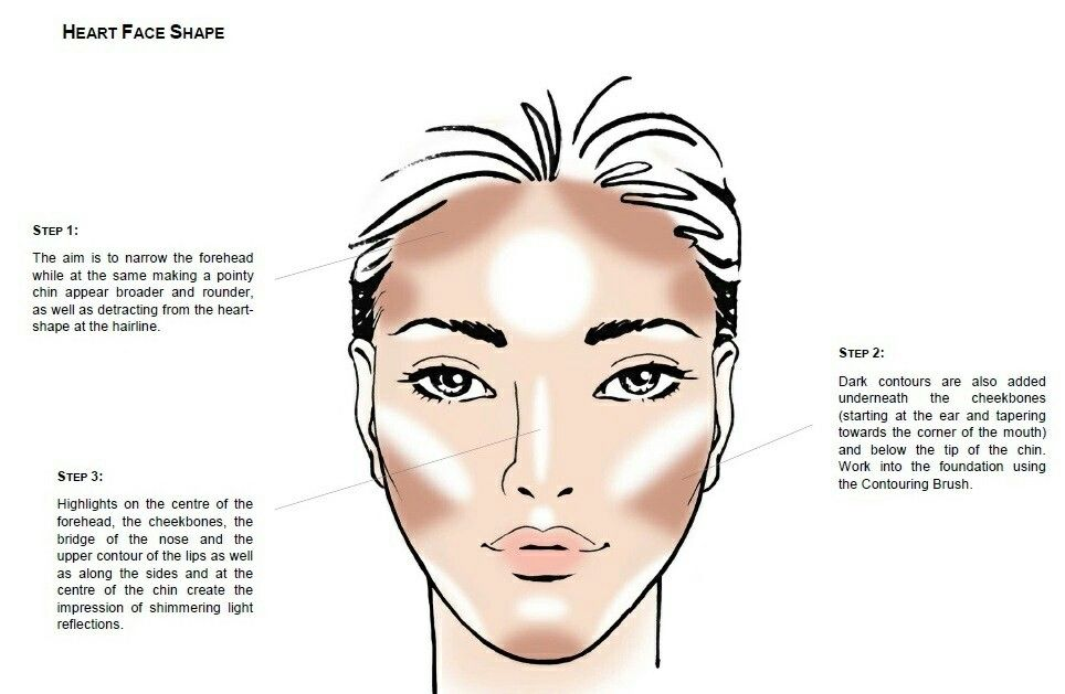 Makeup Tips Heart Face Shape Contour Heart Shaped Face Makeup Face Charts