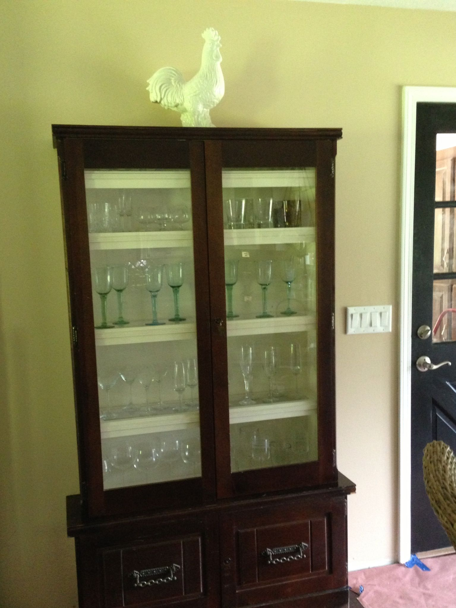Refurbished Gun Cabinet Into Wine Glass Cabinet 50 At A Yard Sale Home Pinterest Yard