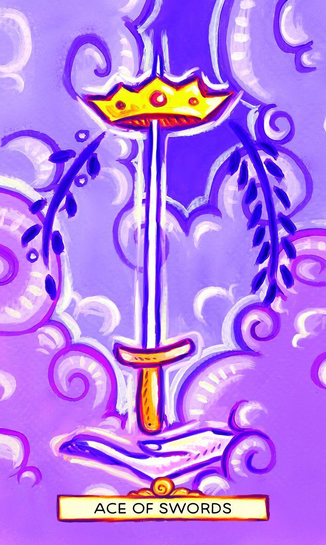 Ace of swords vivid journey tarot tarot 78 tarot cards