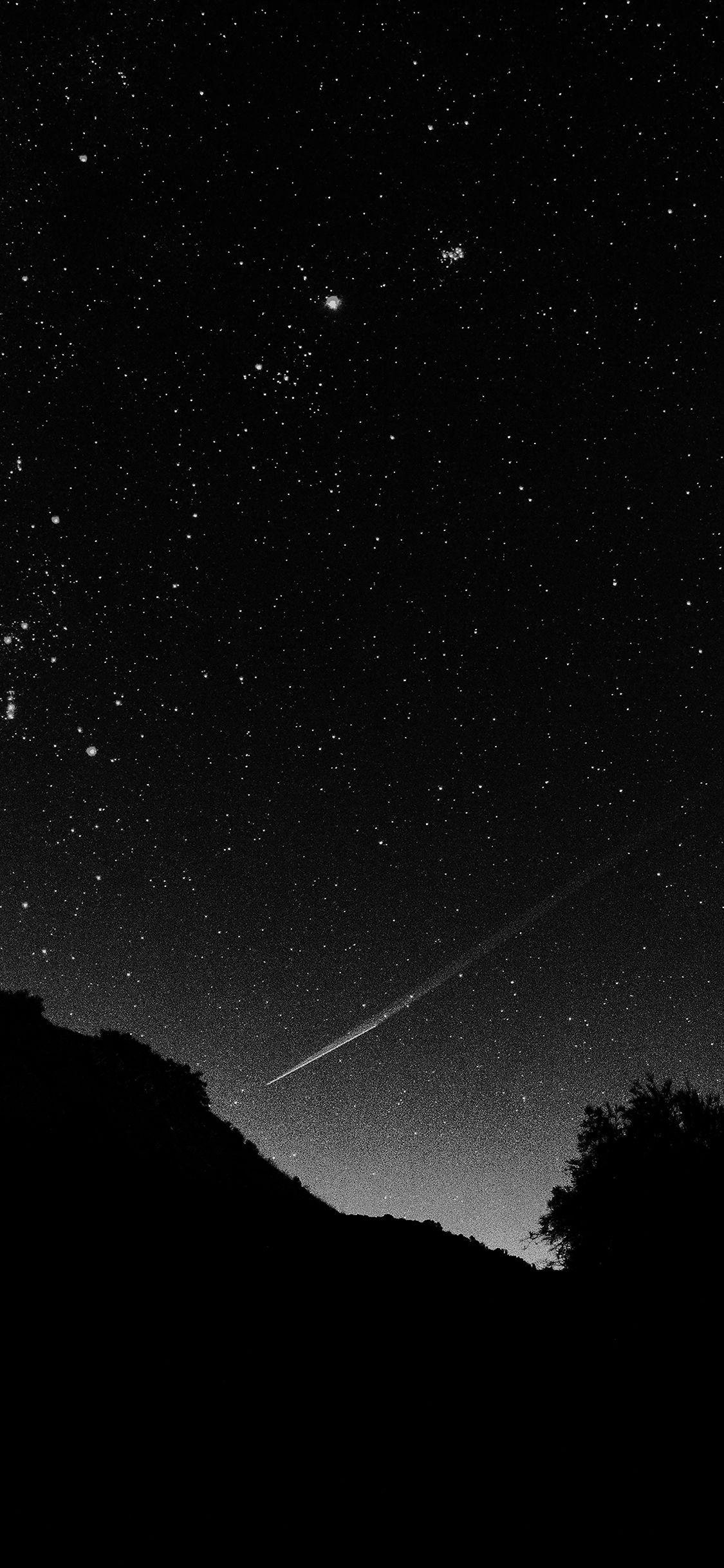 Mg37 Astronomy Space Black Sky Night Beautiful Falling Star Via Http Iphonexpapers Com Wallpapers For Ip Night Sky Wallpaper Black Wallpaper Dark Wallpaper