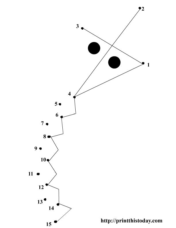 free printable dot to dot kite | For the Home | Pinterest | Kites ...