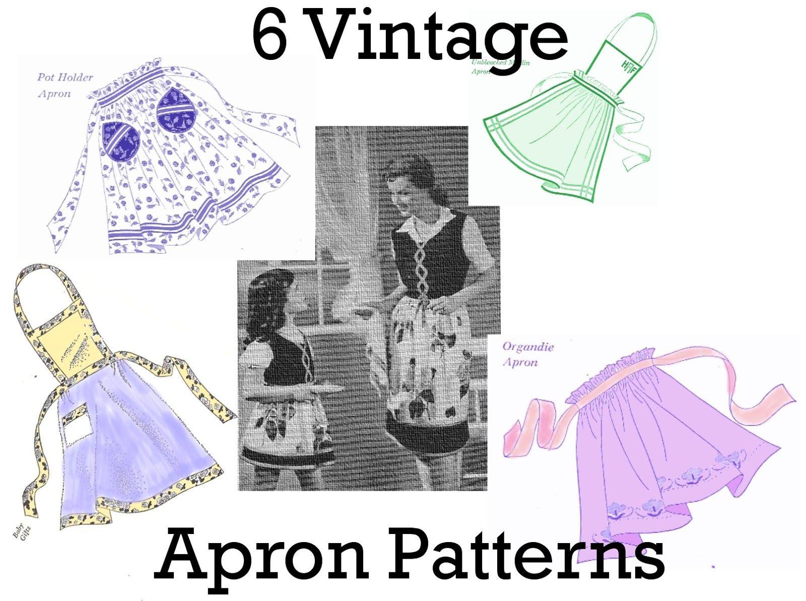Vintage+Apron+Patterns+Free | FREE .PDF of 6 Vintage Apron Patterns ...