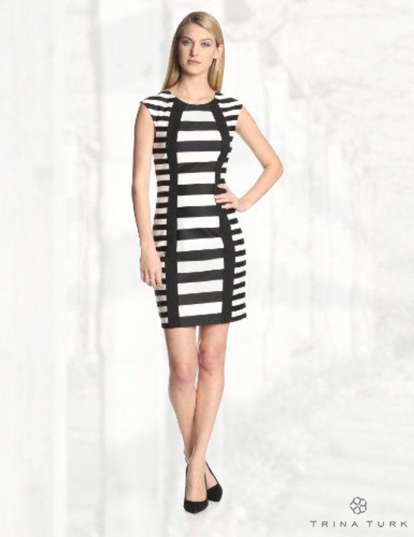Trina Turk Women's Phlox Graphic Stripe Cap-Sleeve Sheath Dress