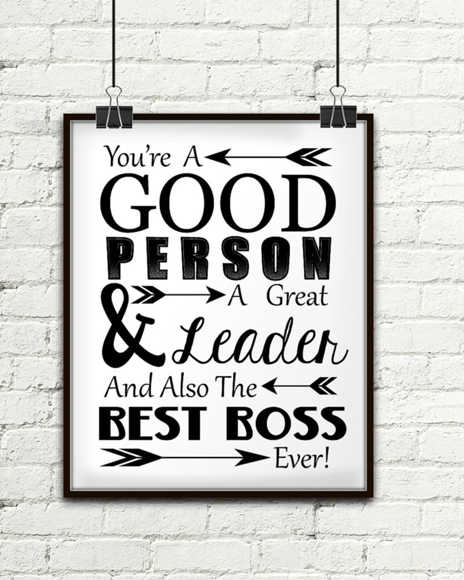 You Re A Good Person A Great Leader And Also The Best Boss Etsy In 2021 Gifts For Boss Gifts For Your Boss Best Boss Gifts