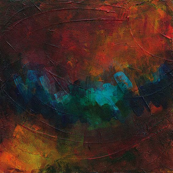 Abstract Acrylic Painting Emergence by LiveWaterStudios on Etsy, $275.00... Sold!