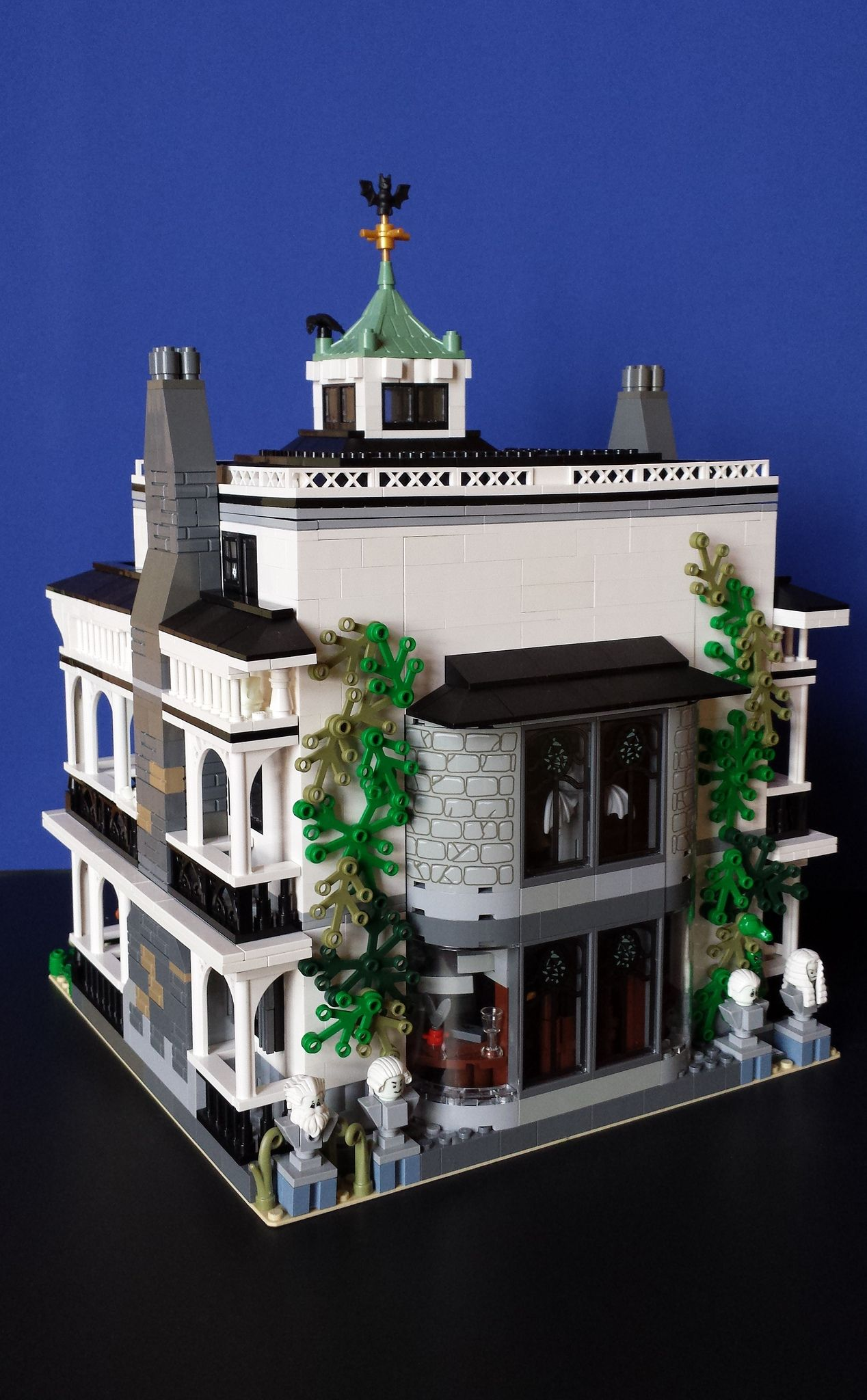 Haunted Mansion Rear View Haunted Mansion Disneyland Lego