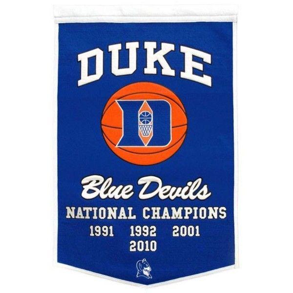 Winning Streak Duke Blue Devils Dynasty Banner ($80) ❤ liked on Polyvore featuring home, home decor, team color, blue home accessories and blue home decor