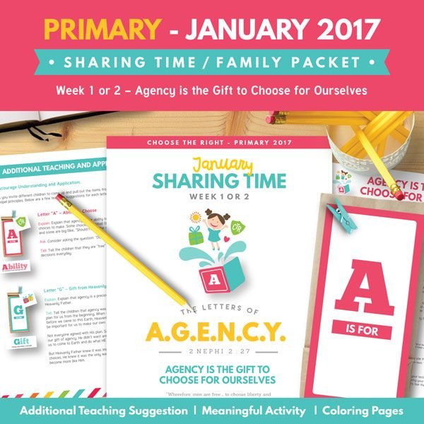 2017-lds-primary-january-sharing-time | primary | Pinterest ...