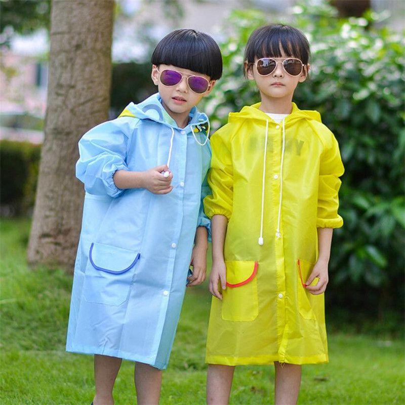 d5c71a939 Student Raincoat Baby Children Cartoon Kids Girls boy rainproof Rain ...